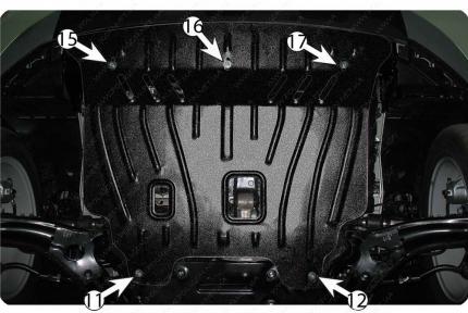 Защита двигателя и КПП KIA Soul (2013+) 1,6 CRDi АКПП