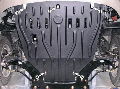 Защита моторного отсека GEELY Maple 303 1,5 2005-