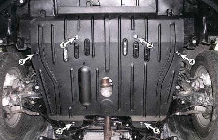 Защита двигателя и КПП TOYOTA Camry 40 (2006-2011)