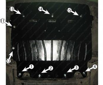 Защита двигателя и КПП OPEL Movano (2010+) 2,3D